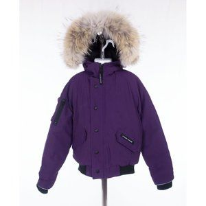CANADA GOOSE Kid Rundle Bomber Jacket S 7-8 Purple